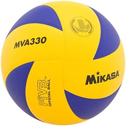 Mikasa MVA330 - Pelota de Voleibol en Espiral (Azul/Amarillo ...