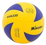 Mikasa MVA330 Spiral Club Volleyball (Blue/Yellow)