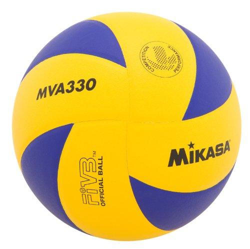 Mikasa MVA330 Spiral Balón de voleibol para club, azul/amarillo