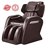 Full Body Massage Chair, Zero Gravity & Air Massage, Foot Roller, Shiatsu Recliner, with Heater and Vibrating Brown