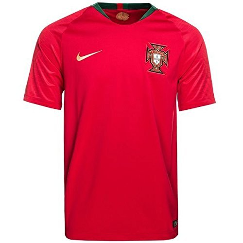 NIKE 2018 Portugal Home Jersey- Red L (Portugal Replica Jersey)