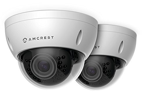 2-Pack Amcrest ProHD Outdoor 3 Megapixel POE Vandal Dome IP Security Camera - IP67 Weatherproof, IK10 Vandal-Proof, 3MP (2048 TVL), IP3M-956E (White)
