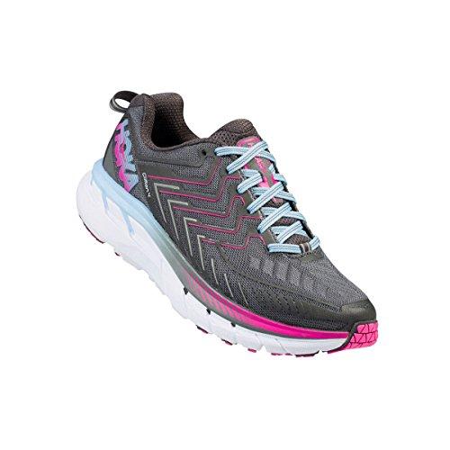 Hoka One One Women S Clifton  Running Shoe Gray
