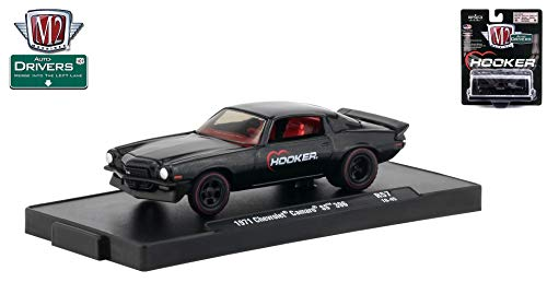 (M2 Machines 1971 Chevrolet Camaro SS 396 (Hooker) Auto-Drivers Release 57 - Castline 2019 Special Edition 1:64 Scale Die-Cast Vehicle & Custom Display Base (R57 18-45))