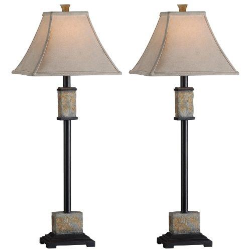 Bennington Buffet Lamp in Natural Slate - Set of 2