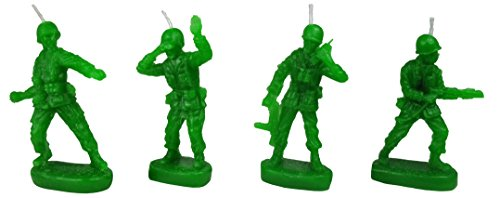 Retro Toy Soldiers 'Army Men' Military Birthday Candles (set of 4) - by NuOp Design -