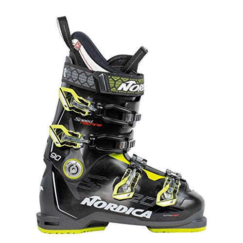Nordica Speedmachine 90 Ski Boots - 29.5/Black-Anthracite-Lime