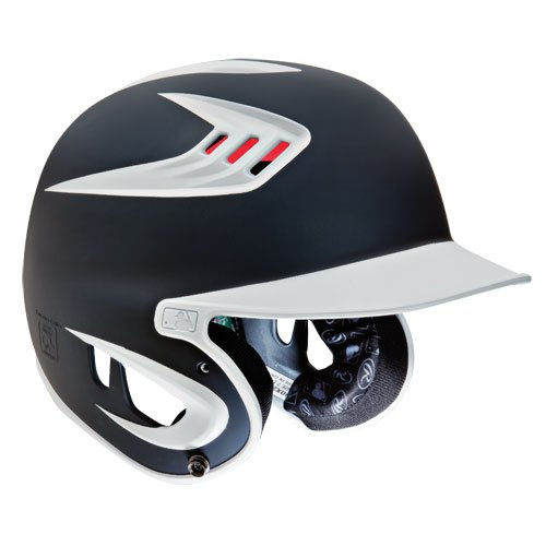 Rawlings 80Mph Rated Matte Batting Helmets Youth(6 1/2-7 1/8)|Matte Graphite by Rawlings