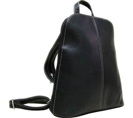 le-donne-leather-u-zip-womens-sling-back-pack-black
