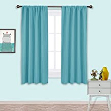 NICETOWN Solid Room Darkening Curtains - Thermal Insulated Drapes / Window Treatment for Bedroom (Set of 2 Panels,42 by 63 Inch Long ,Turquoise Blue)