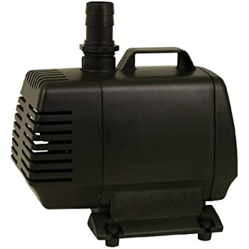 TetraPond Water Garden Pump, Powers Waterfalls/Filters/Fountain Heads, 500 to 1000 gallons
