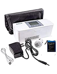 AIJUN Portable Insulin Cooler Case Keeping Mini Insulin Cooler Car Refrigerator Keeps Diabetes Medication Cool and Insulated (Built-in One Battery) (Two Batteries Include)