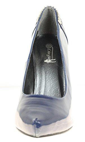 Escarpins couleur :  bleu foncé
