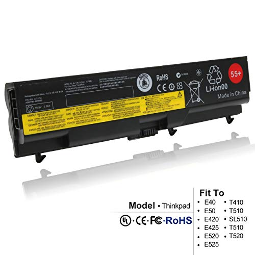New SL410 42t4753 Replacement Laptop Battery for Lenovo ThinkPad T410 T510 SL510 T510 T520 E40 E420 E520 Series fits P/N 42T4795 42T4793 42T4791 42T4737 57WH 55+ (Computer Thinkpad Sl510)