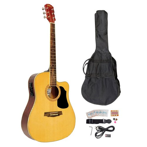 PYLE-PRO PGAKT40N 41-Inch Acoustic-Electric Guitar Package With Gig Bag