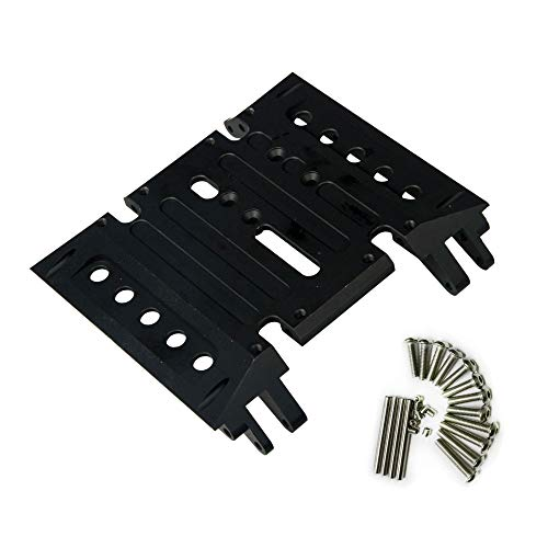 RCLions CNC Aluminum Center Gear Box Mount Skid Plate for Axial Wraith 90018 RC Crawler ()