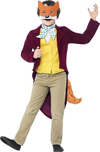 Roald Dahl Fantastic Mr Fox Costume Burgundy Age (Mr Fantastic Fox Costume)