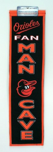 MLB Baltimore Orioles Man Cave Banner Baltimore Orioles Mlb Wall
