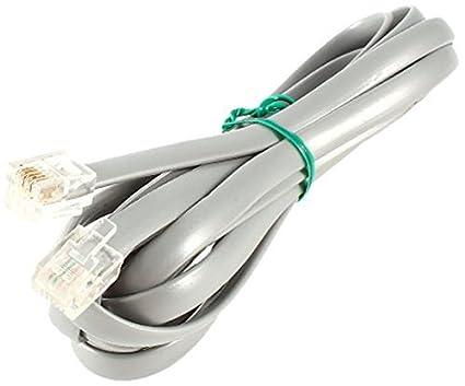 Amazon.com: eDealMax plástico Fideos 6P6C RJ12 M Banda Plana ...