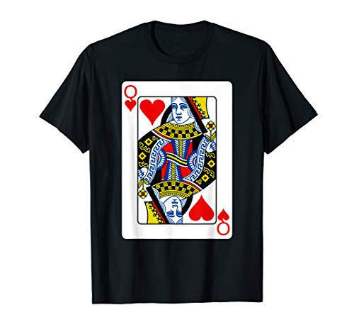 Queen Of Hearts Playing Card Group Costume Poker Player T-Shirt -
