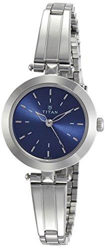 Titan Analog Blue Dial Women's Watch-2574SM01