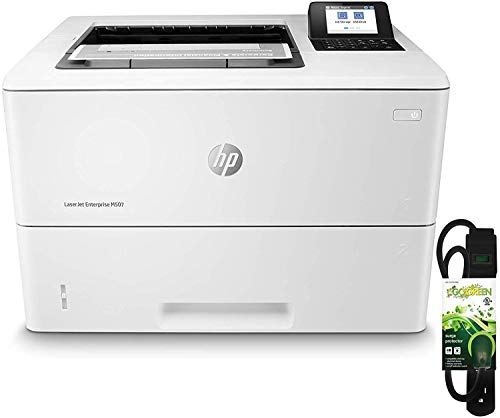 HP Laserjet Enterprise M507dn (1PV87A) with Power Strip Surge Protector