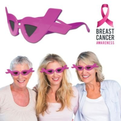 Pink Ribbon Sunglasses Breast Cancer Awareness Support (12 pack)]()