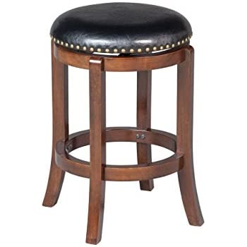 """Amazon.com: 24"""" Swivel Counter Stools with Upholstered"""