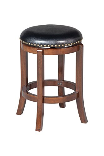 Antique Brass Bar Stool (Boraam 33824 Cordova Counter Height Swivel Stool, 24-Inch, Cappuccino)