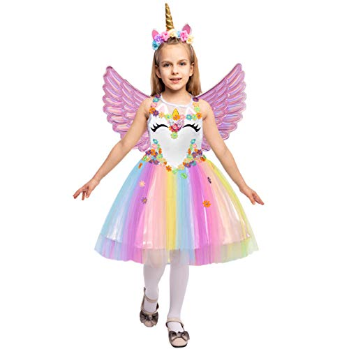 Top Kids Halloween Costumes (Spooktacular Creations Girl Unicorn Costume (Small 5 - 7))
