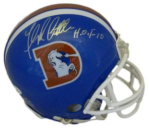 Floyd Little Autographed Signed Denver Broncos D-Logo mini helmet w/HOF 10 - JSA Certified