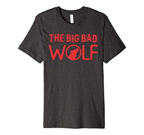 Mens Wolf (Big and Bad) Gift Halloween Costume Idea A-Type XL Dark Heather
