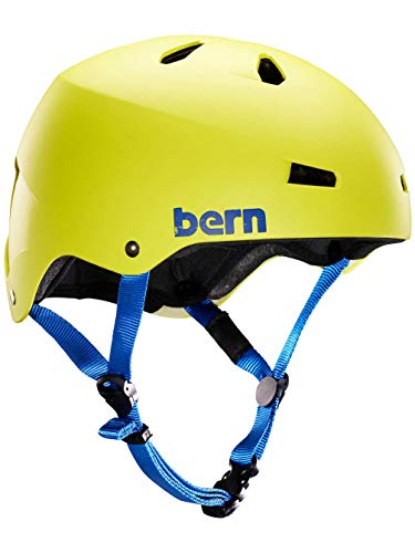 Macon Helmet Matte - Bern Men's Team Macon Helmet Matte Neon Yellow M