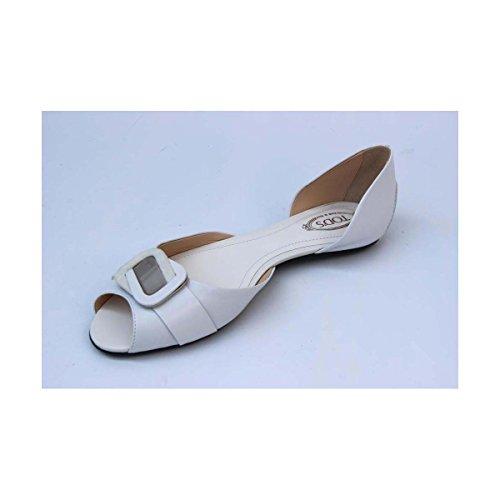 Tods Damer Platt Sandal Xxw0lw0b9002ycb001 Vit
