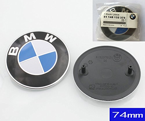 74mm BMW 2 Pin Replacement Badge Emblem Logo Rear Trunk for BMW E46 E90 E82 1 3 TRUNK EMBLEM 1pc