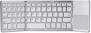 MOJO-HOME Bluetooth Wireless Folding Keyboard with Touchpad (Silver)