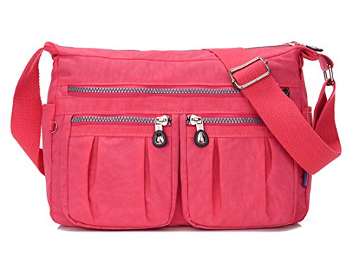Bag Cross Pink body for Girls Messenger Bag TianHengYi Shoulder Casual Womens Nylon Multiple Design Pockets X6Xx8w1qZ