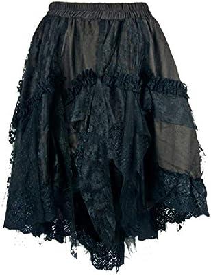 Horror-Shop Falda De Encaje Victoriana Marrón M/L: Amazon.es ...