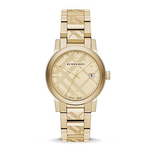 Burberry Unisex Swiss Gold Ion-Plated Stainless Steel Bracelet Watch 38mm - Gold Burberry