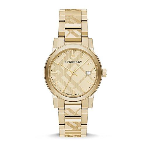 Burberry Unisex Swiss Gold Ion-Plated Stainless Steel Bracelet Watch 38mm BU9038
