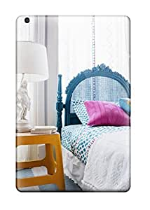 Andrew Cardin's Shop 3090442J39925572 First-class Case Cover For Ipad Mini 2 Dual Protection Cover Turquoise Headboard With Orange Side Table