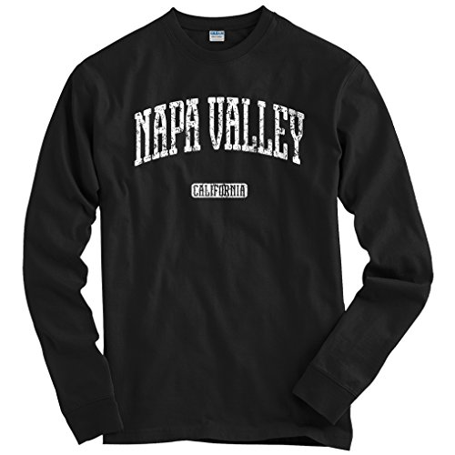 - Smash Transit Men's Napa Valley California Long Sleeve T-Shirt - Black, XX-Large