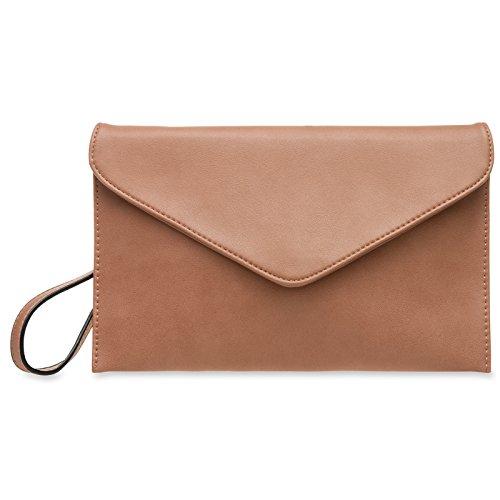 Women Clutch CASPAR Envelope TA310 Rose Old wxwpYq