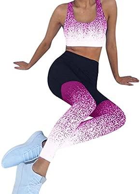 LILICAT® Calzas Deportivas elásticas y Transpirables para Mujer, Fitness Yoga Entrenamiento Calzado Deportivo con Cintura Alta Túnicas Tops + ...