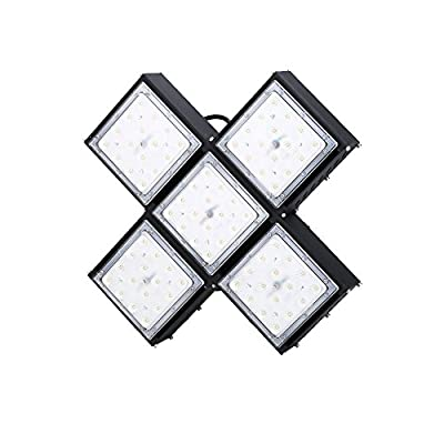 Indee 200W Dimming LED High Bay Lighting, Super Bright Commercial Lighting, 24000lm, Beam Angle 40 degrees Industrial Lighting Waterproof, Daylight White, 6000K, LED High Bay Lights [Energy Class A+]