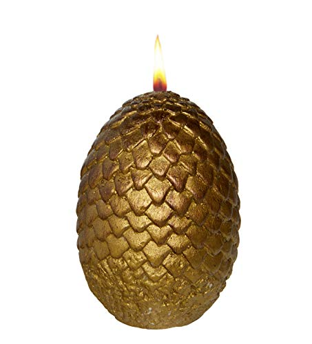 Game of Thrones Sculpted Dragon Egg Candle - Gold - 2 1/2