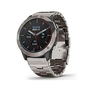 Garmin Quatix 6X Solar Edition Titanium Bracelet Watch 010-02157-31