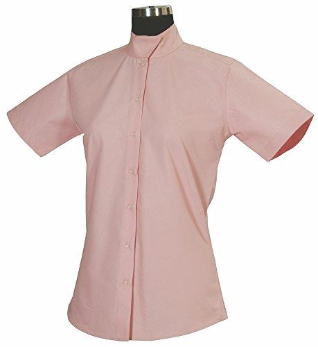 TuffRider Women's Starter Short Sleeve Show Shirt, Pink, 38 ()