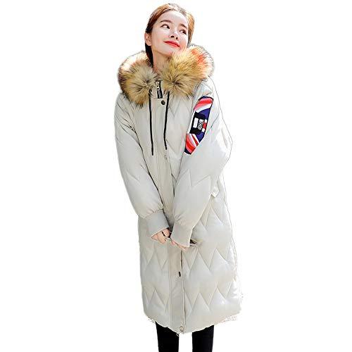 Simayixx Women Winter Clothes Plus Size Fashion Zipper Faux Fur Hooded Coats Thick Long Outerwear Jackets Tops