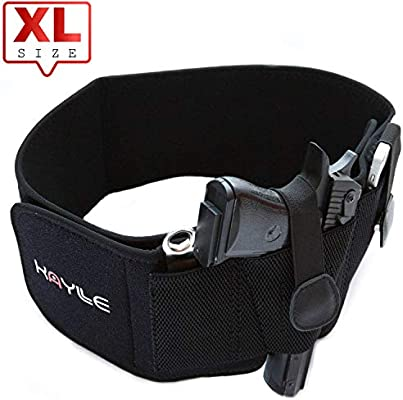 d3749a7b11e2 KAYLLE XL Belly Band Holster - Neoprene Elastic Inside Waistband Gun  Holster for Women & Men